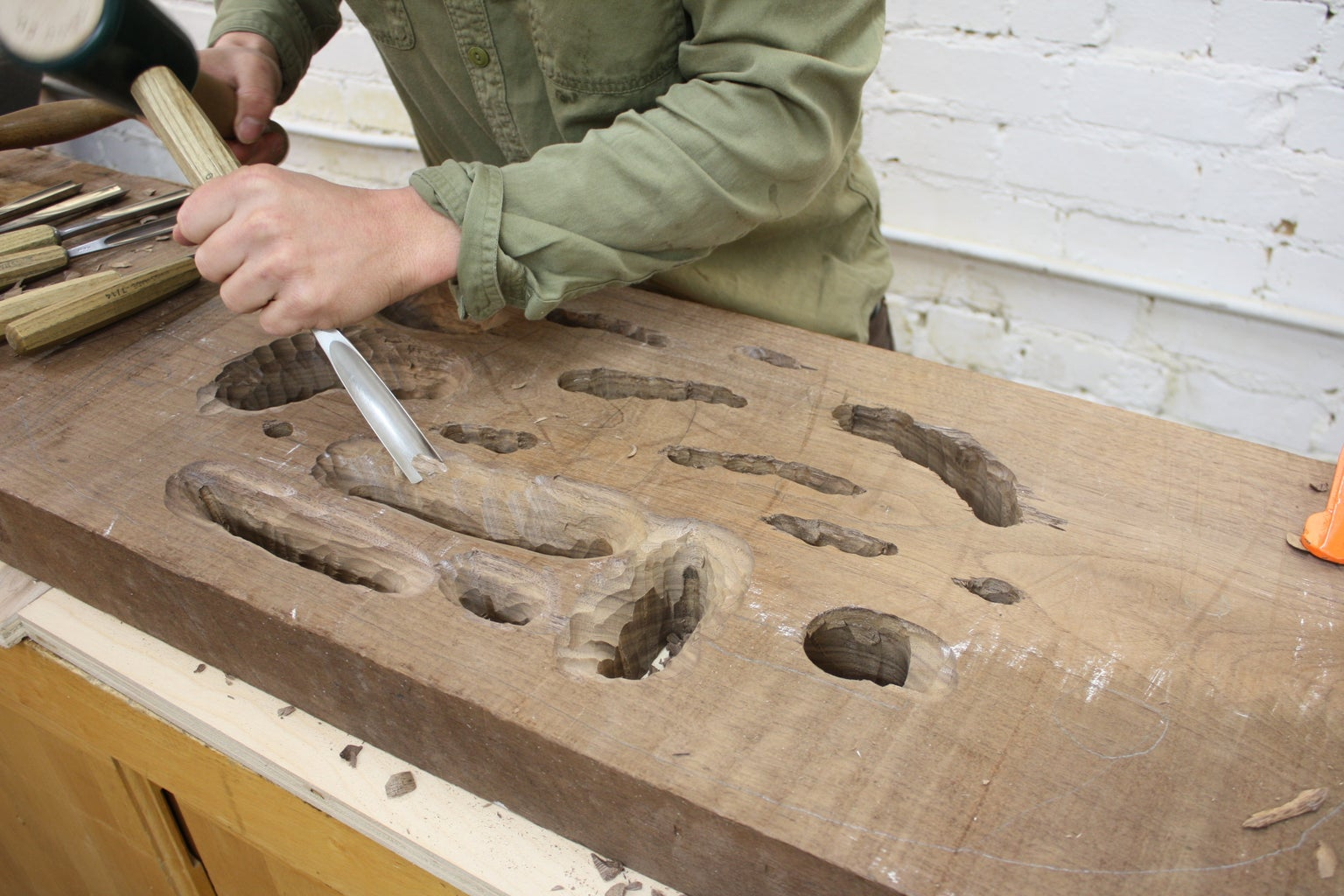 Continue Carving Out the Holes From the Back