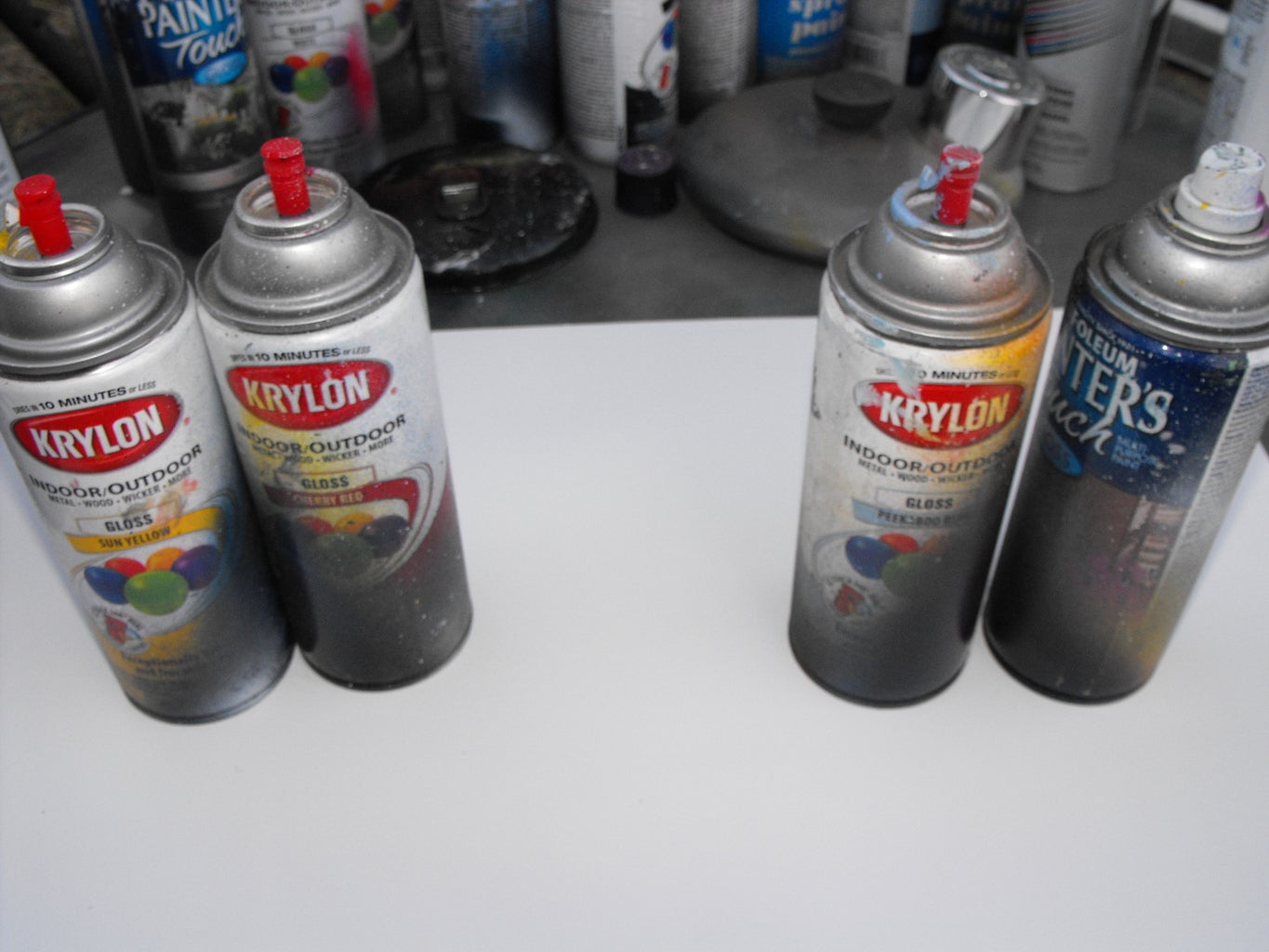 Chose Your Colors, Then Spray Them.