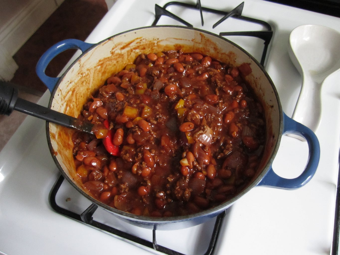 Add the Beans, Tomato Sauce and Beer!