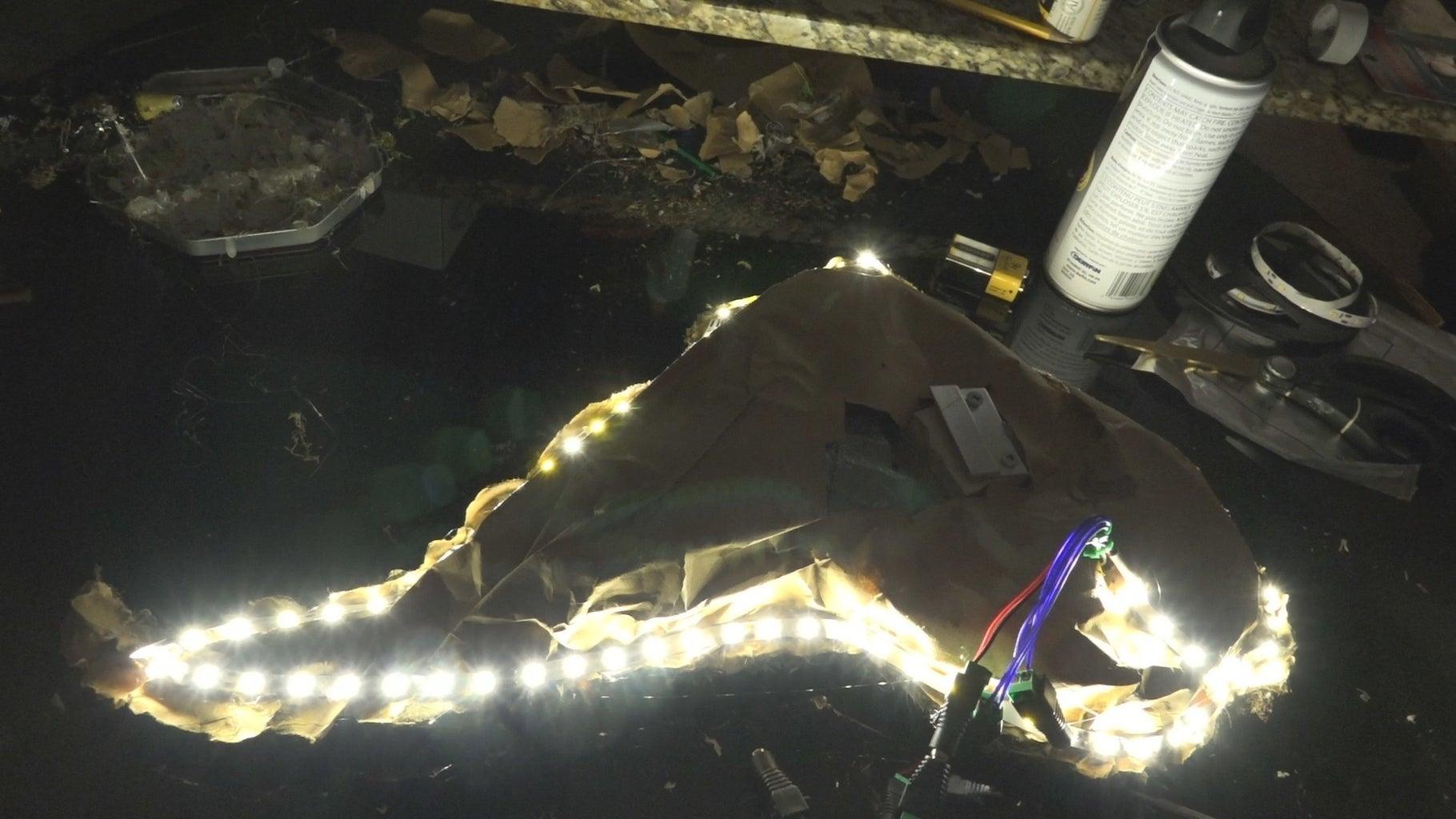 Adding the 12v LED String Backlighting