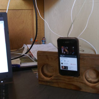 Natural Iphone Speaker Charging Dock (from 2x4)
