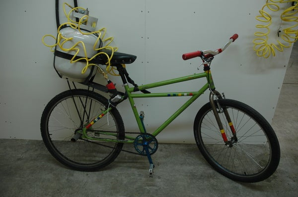 Air Powered Bicycle.