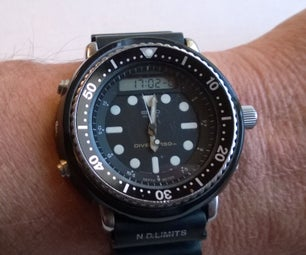 3D Printed Plastic Shroud for Iconic Antique Seiko Watch As Worn by Arnold Schwarzenegger in Various Films