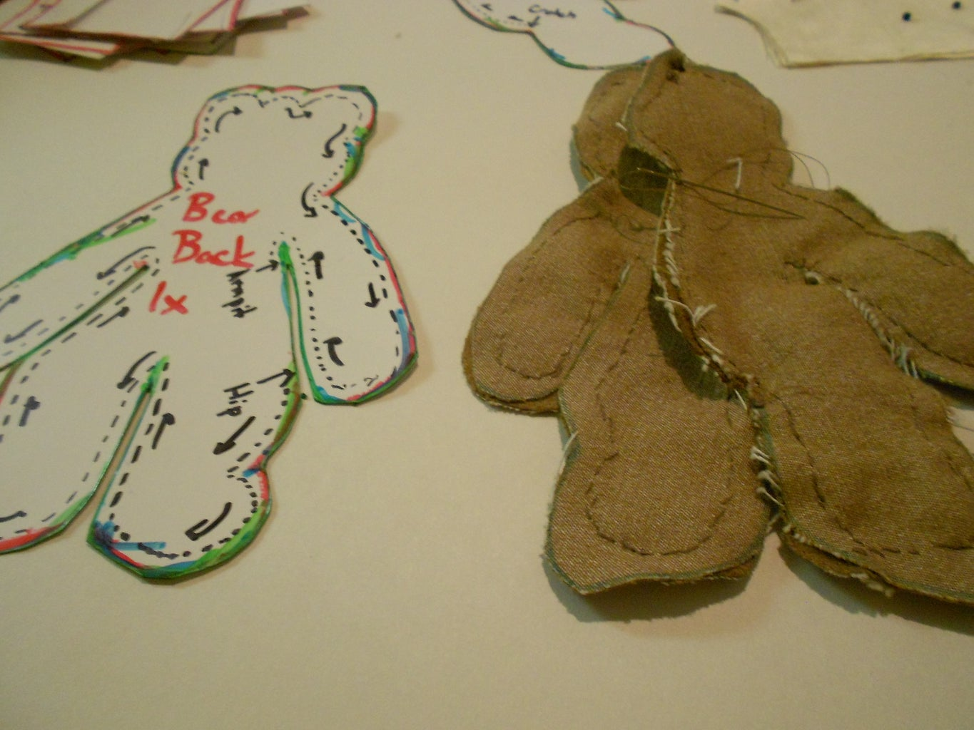 Sew the Front of the Bear to the Back