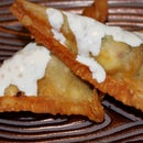 Deep Fried Empanadas with Lemon Lime Sauce
