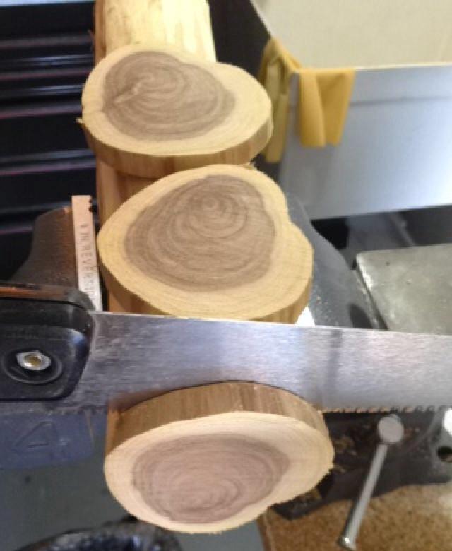 Sliced Wood Coasters