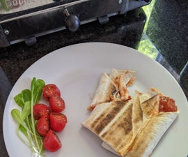 Quick and Easy  Toaster Wrap Pizza!