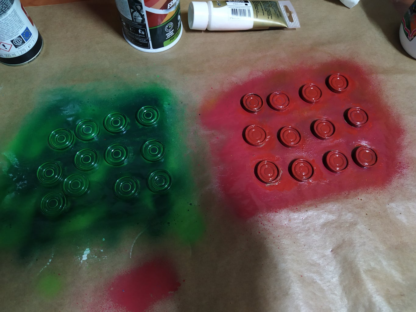 Spray Paint the Pieces