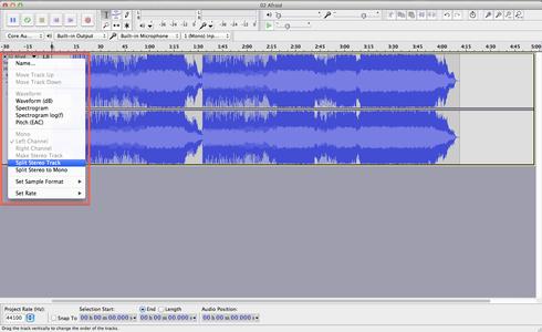 Split the Stereo Track