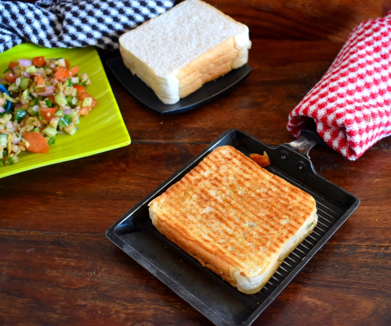Kachumber Sandwich Recipe With Step by Step Pictures