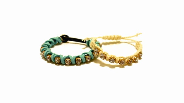 DIY Rhinestone Friendship Bracelets Ideas!