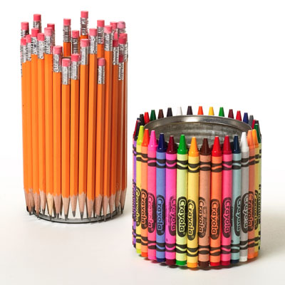 How to make cool Crayon and Pencil holders