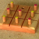 Tic Tac Toe - Cherry Wood