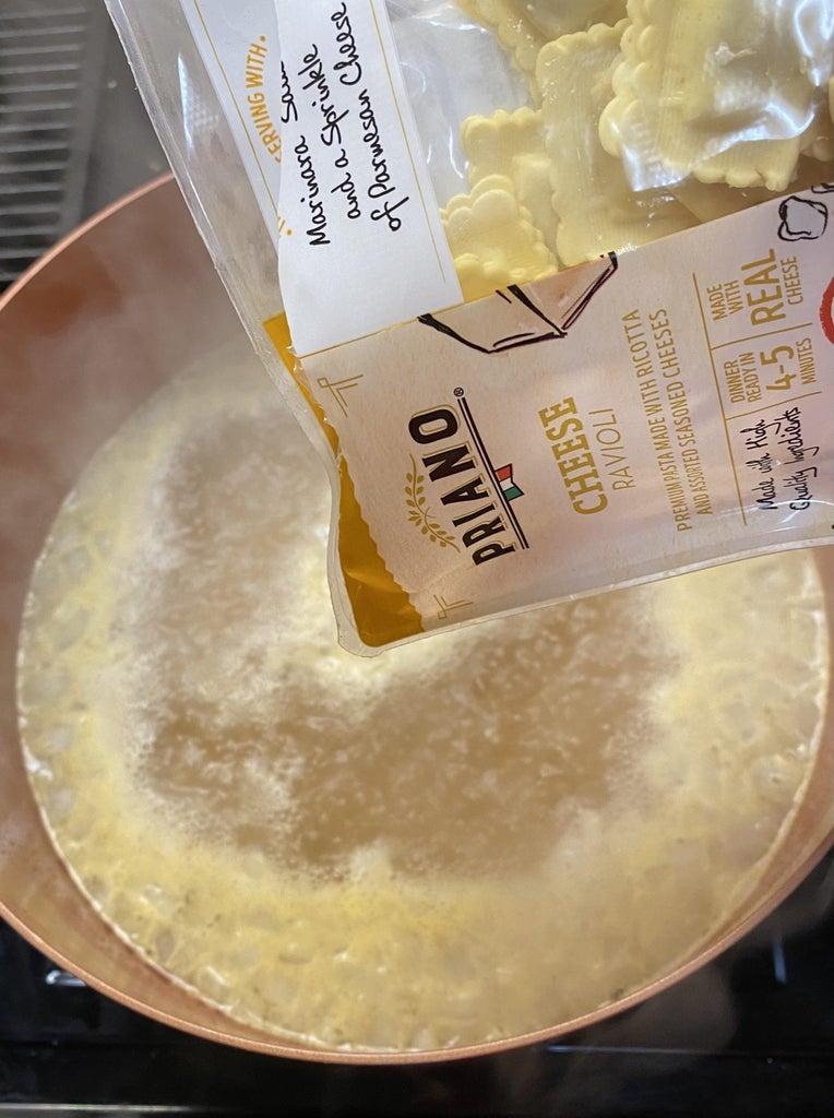 Cooking Ravioli: