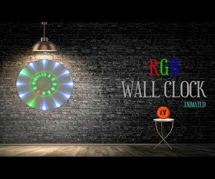 ANIMATED RGB WALL CLOCK