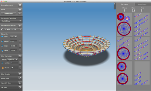 Slicing the Shape in 123D-Make