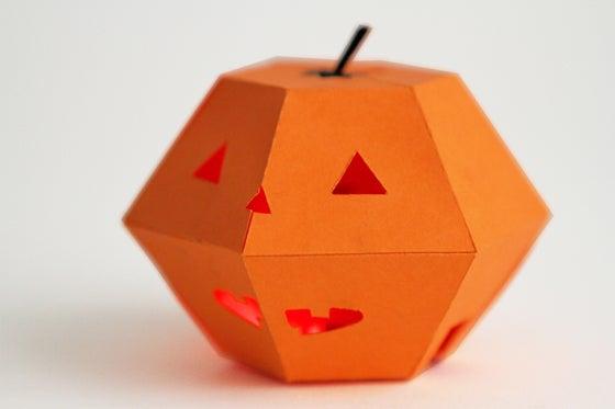 Halloween Blinking Paper Jack'o'Lantern