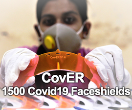 CovER - 1500 Covid19 Faceshields