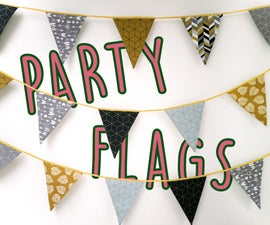 DIY Fabric Party Flags