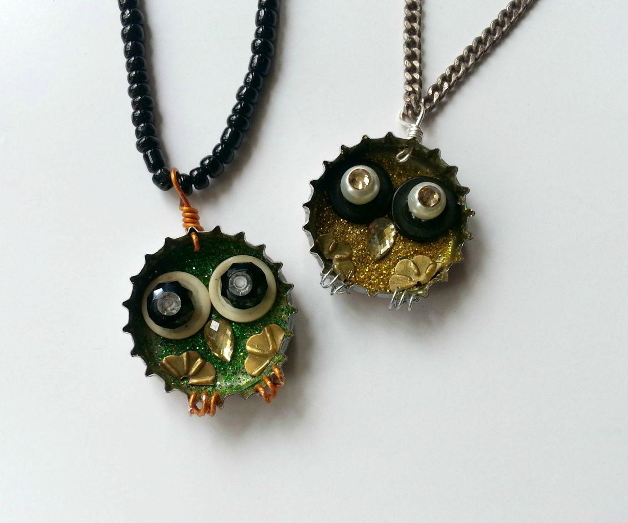 DIY Owl Pendant from Junk