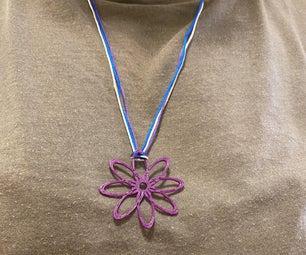 3D Printed Flower Necklace Using Tinkercad Codeblocks