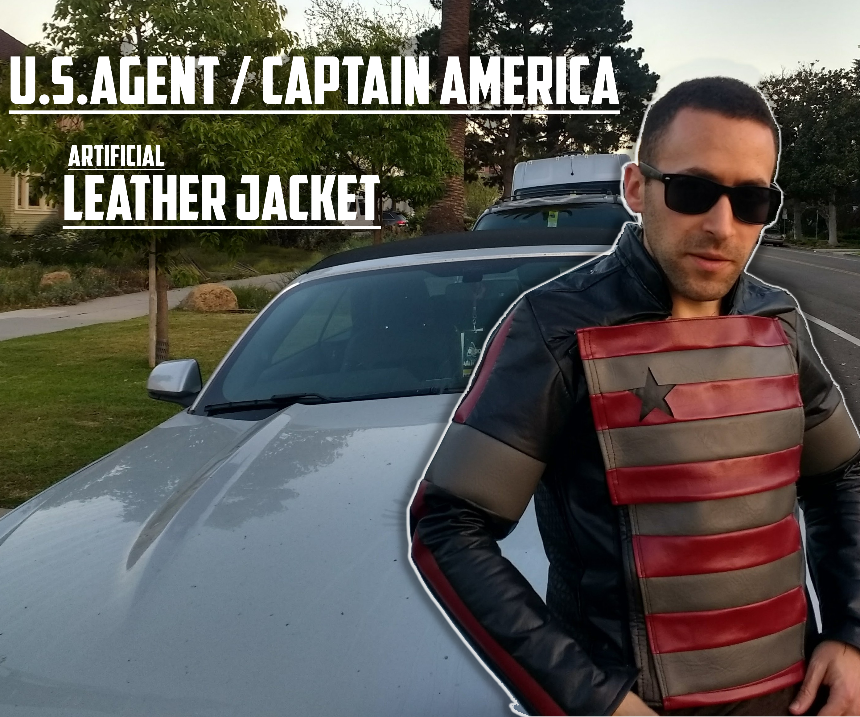 Captain America/US Agent Artificial Leather Jacket