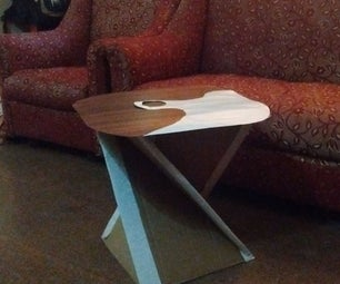 DIY Tea Table From Waste  Packing Box