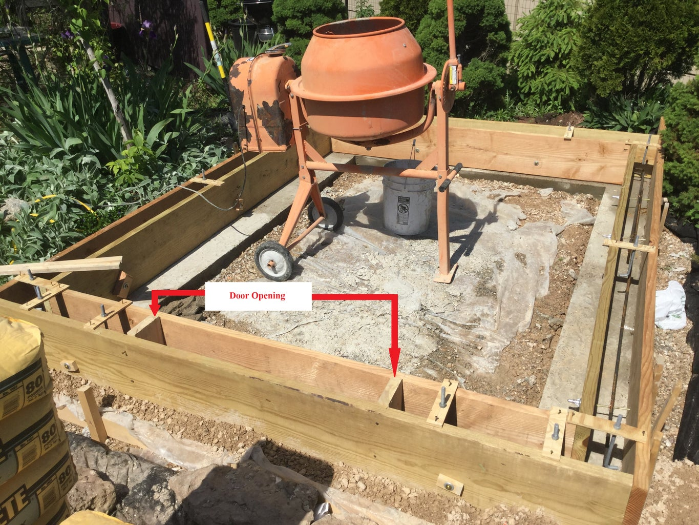 Setting and Pouring the Shed Walls