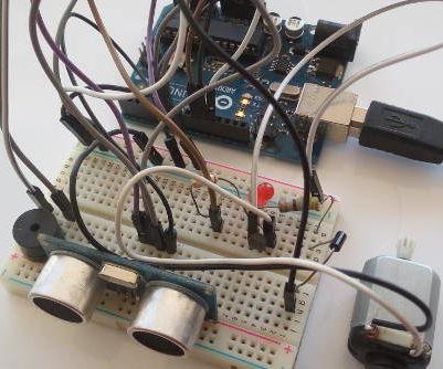 Obstacle Avoider Using HC-SR04 Ultrasonic Sensor