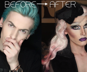 Before and After: Boy to Girl Drag Queen Transformation
