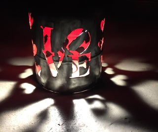 Pop LOVE Lamp With Gas Bottle