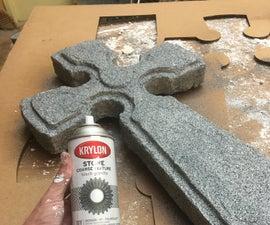Prop Celtic Cross Grave Stone