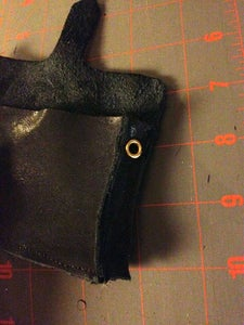 Attach Eyelet and Make the Slits for Closure