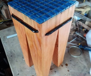 Simple Side Table From a Fence Post