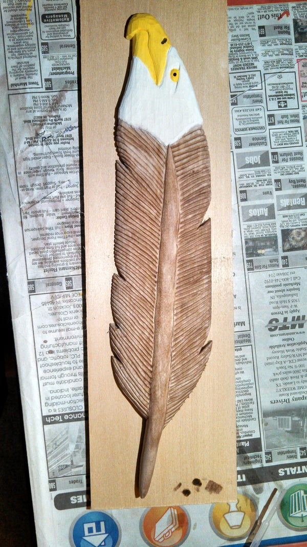 Carving a Eagle Feather