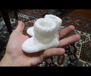 How to Knit Baby Booties in Only One Hour! Ta-Da!