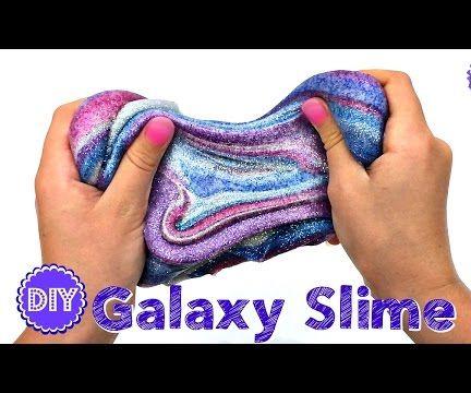 DIY GALAXY SLIME!  NO BORAX NEEDED!