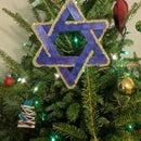 Star of David ornament for Christmas or Hanukkah