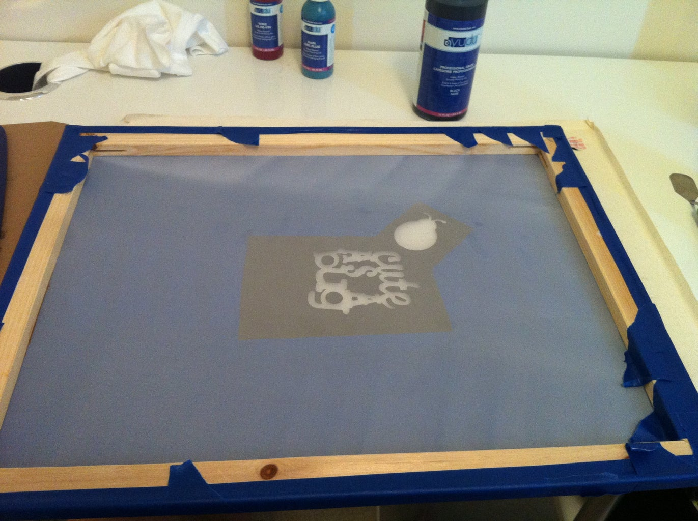 Applying Ink to the Screen.