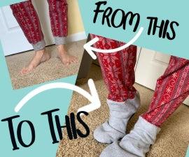 Upcycle Any Pajama Pants Into Footie Pajama Pants