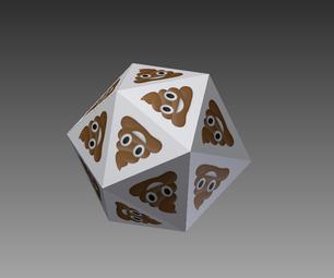 Emoji Icosahedral Die: the -20