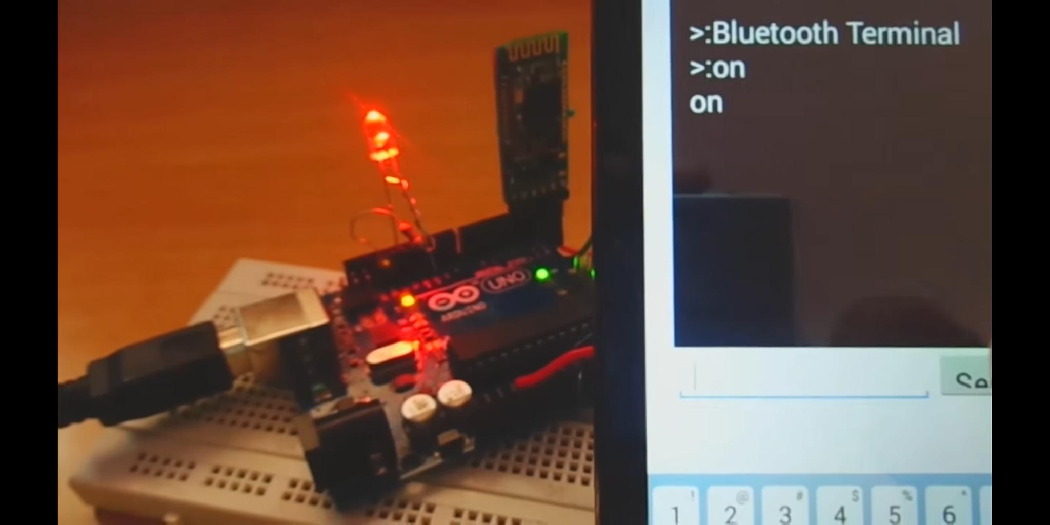 Control Led Using Smart Phone