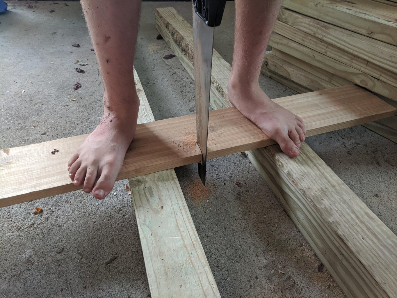 Measuring and Cutting the First Board