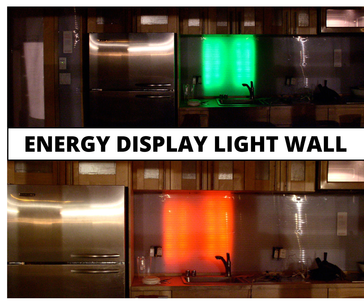 LED Light Wall | Energy Consumption Display