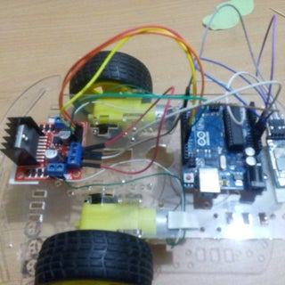 DIY Arduino UNO Mobile Control L298N+HC-06+Android  Bluetooth Robot Car With Code