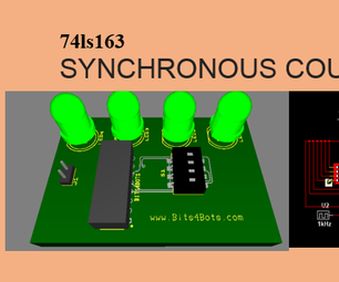3D 4-bit Synchronous Counter - Multisim