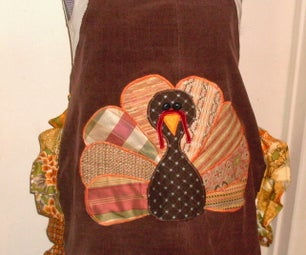 Thanksgiving Apron From Old Pants and Scraps