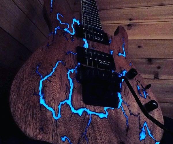 Glowing Thunderstruck Guitar