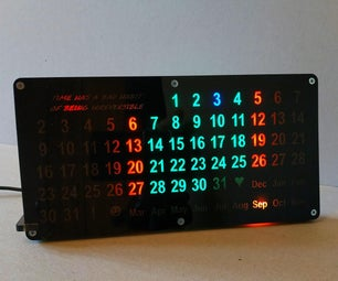 Backlit Automated Perpetual Calendar - a CNC Project
