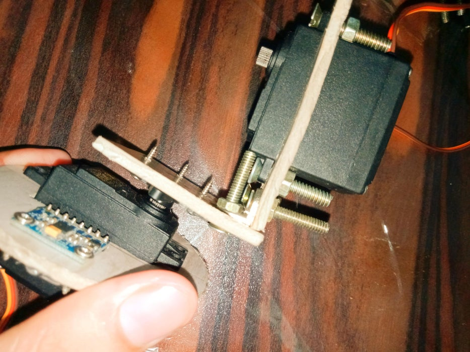 Next, Using the Same Method I Secured the Roll Servo. the Parts Are Specifically Designed to Easily Fit the MG995 Servos